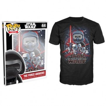 7882 - T-SHIRT - POP TEES 44 - STAR WARS TFA POSTER - S