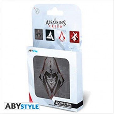 ABYCOS006 - ASSASSIN'S CREED - SET 4 SOTTOBICCHIERI - GENERIC