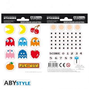 ABYDCO457 - PAC MAN - STICKERS 16X11 - MAZE