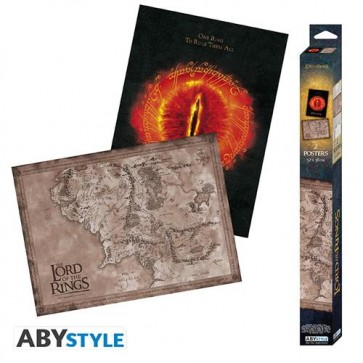 ABYDCO722 - LORD OF THE RINGS - EYE & MAP - SET 2 CHIBI POSTER (52X38)
