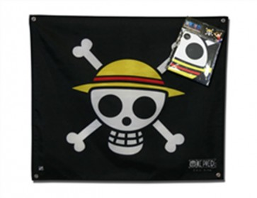 ABYDCT001 - ONE PIECE - BANDIERA 'SKULL WITH MAP' - (50X60)