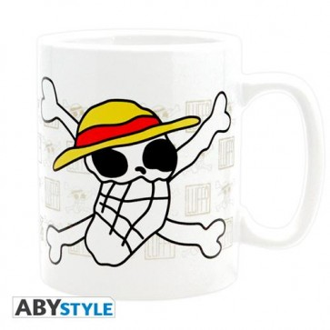 ABYMUG162 - TAZZA GRANDE ONE PIECE - SKULL DRAWN BY LUFFY