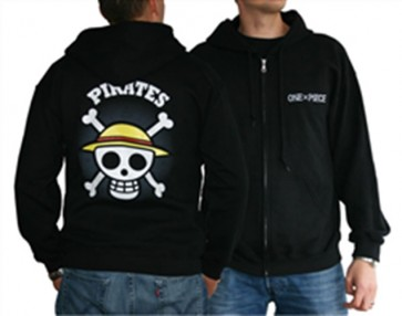 ABYSWE002M - FELPA - ONE PIECE - SKULL WITH MAP BLACK M