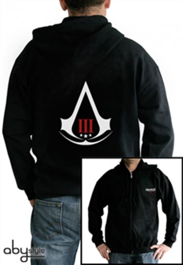 ABYSWE005M - FELPA - ASSASSIN'S CREED III - CREST BLACK M