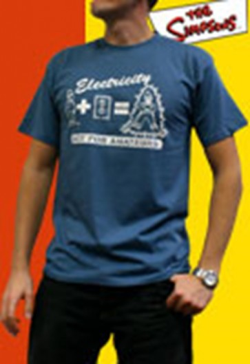 ABYTEX074L - T-SHIRT UOMO HOMER ELECTRICITY L
