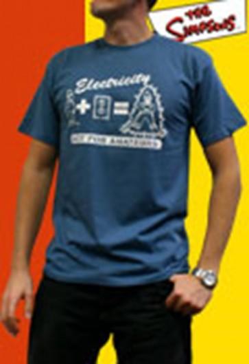 ABYTEX074L - T-SHIRT UOMO HOMER ELECTRICITY L