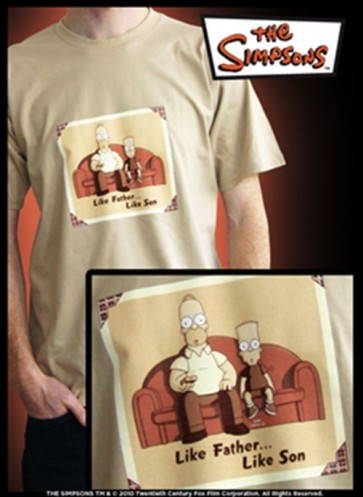 ABYTEX094S - T-SHIRT SIMPSONS LIKE FATHER LIKE SON S
