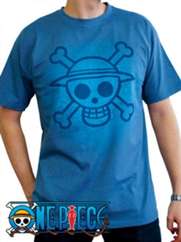 ABYTEX100M - T-SHIRT - ONE PIECE - SKULL WITH MAP USED M