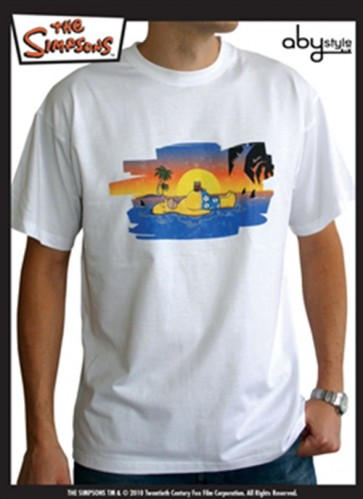 ABYTEX101S - T-SHIRT UOMO HOMER ON THE BEACH S