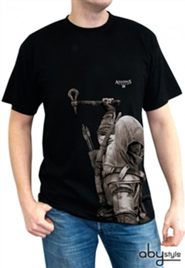 ABYTEX193M - T-SHIRT - ASSASSIN'S CREED III - CONNOR NERA M