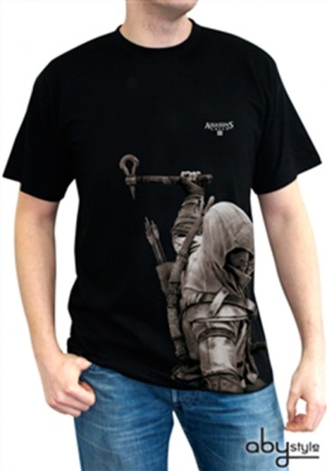 ABYTEX193XXL - T-SHIRT - ASSASSIN'S CREED III - CONNOR NERA XXL