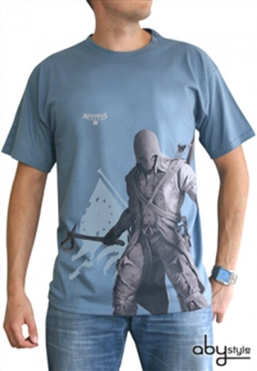ABYTEX194L - T-SHIRT - ASSASSIN'S CREED III - CONNOR BLU L