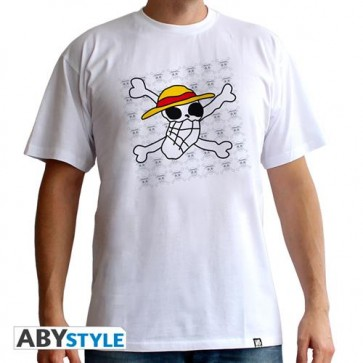 ABYTEX322S - T-SHIRT - ONE PIECE - SKULL DRAWN BY LUFFY - UOMO S