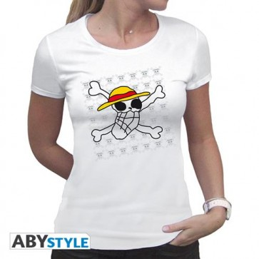 ABYTEX323S- T-SHIRT - ONE PIECE - SKULL DRAWN BY LUFFY - DONNA S