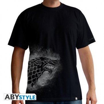 ABYTEX327S - T-SHIRT - GAME OF THRONES - STARK SPRAY - UOMO S