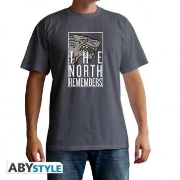 ABYTEX611XXL - T-SHIRT UOMO - GAME OF THRONES - THE NORTH REMEMBERS XXL