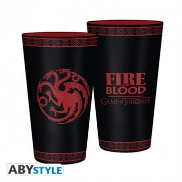 ABYVER115 - GAME OF THRONES - BICCHIERE TARGARYEN 500ML DI VETRO