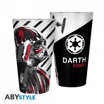 ABYVER127 - STAR WARS - BICCHIERE VADER 500ML DI VETRO