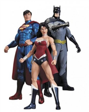 ACTION FIGURE BATMAN SUPERMAN WONDER WOMAN  PACK DC NEW 52 - TRINITY WAR 17 CM