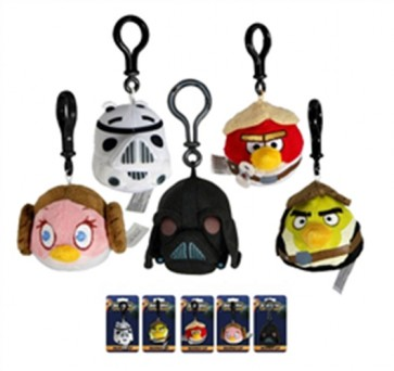 ANGRY BIRDS - STAR WARS - CLIP-ON MINI PELUCHE DISPLAY 6 CM (24 PEZZI)