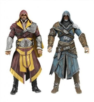 ASSASSIN'S CREED REVELATIONS ACTION FIGURE UBISOFT- EZIO 2 PACK - FLORENTINE SCARLET E CASPIAN TEAL