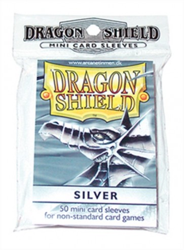 AT-10108 - 50 BUSTINE DRAGON SHIELD MINI - ARGENTO