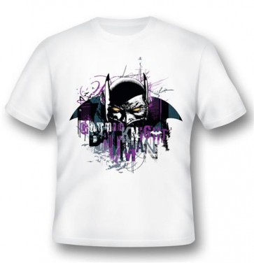 BATMAN05 - T-SHIRT BATMAN GOTHIC KNIGHT L -2BNERD