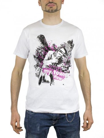 BATMAN10 - T-SHIRT JOKER THIS IS MY TOWN M -2BNERD