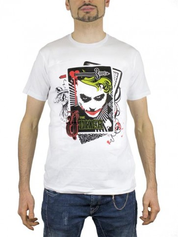 BATMAN20 - T-SHIRT JOKER CARDS M