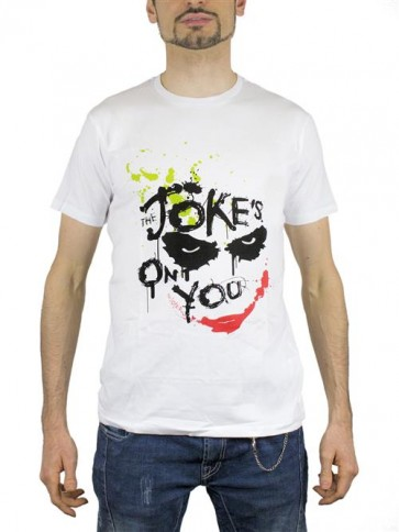 BATMAN24 - T-SHIRT JOKER JOKES ON YOU L