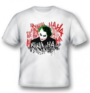 BATMAN26 - T-SHIRT JOKER'S LAUGH L
