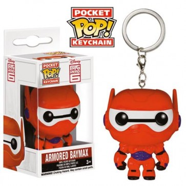 BIG HERO 6 - POP FUNKO VINYL KEYCHAIN ARMORED BAYMAX 4 CM