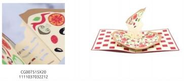BIGLIETTO DI AUGURI POP-UP 3D - CIBO - PIZZA