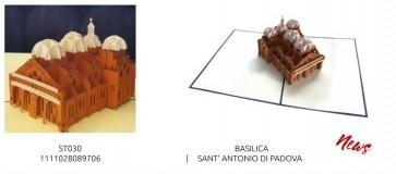 BIGLIETTO DI AUGURI POP-UP 3D - MONUMENTI - BASILICA SANT'ANTONIO PADOVA