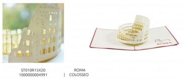 BIGLIETTO DI AUGURI POP-UP 3D - MONUMENTI - ROMA COLOSSEO