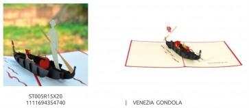 BIGLIETTO DI AUGURI POP-UP 3D - MONUMENTI - VENEZIA GONDOLA