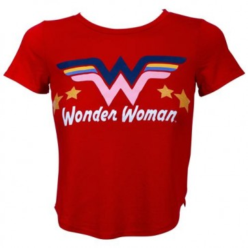 DC COMICS - WONDER WOMAN - T-SHIRT GIRLS RED TEE XS