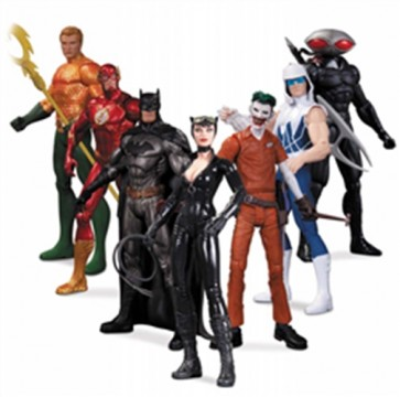 DC NEW 52 EROI E CATTIVI SUPER HEROES AND VILLAINS PACK 7 ACTION FIGURE