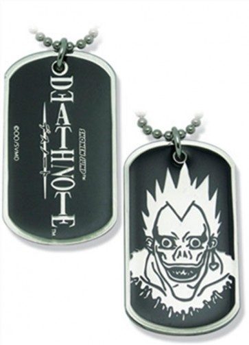 DEATH NOTE DOG TAG PIASTRINA MILITARE RYUK