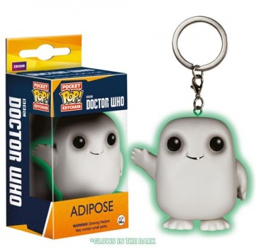 DOCTOR WHO - POP FUNKO KEYCHAIN ADIPOSE GLOW IN THE DARK 4 CM