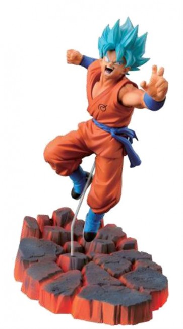 DRAGONBALL Z - SCULTURE BIG BUDOKAI 5 - SUPER SAYAN GOD SS SON GOKU - BANPRESTO STATUA 10CM