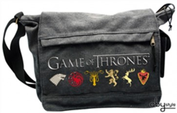 GAME OF THRONES - BORSA A TRACOLLA LOGHI CASATE GRANDE ABYSTYLE ORIGINALE