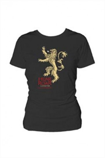 GAME OF THRONES - LANNISTER LOGO - DONNA - NERO - M