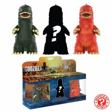 GODZILLA - MYSTERY MINI 3PACK - MINI GODZILLA GREY, RED AND MYSTERY VARIANT COLOR