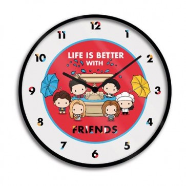GP85516 - FRIENDS - OROLOGIO DA MURO 25CM - LIFE IS BETTER WITH FRIEND (CHIBI)