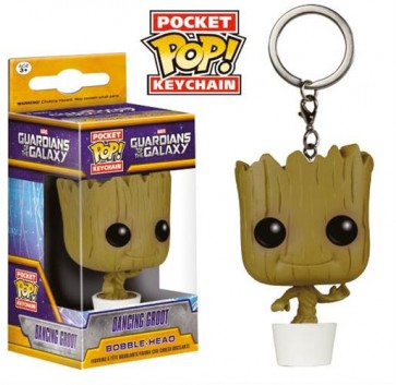 GUARDIANS OF THE GALAXY COMICS - POP FUNKO VINYL KEYCHAIN DANCING GROOT 4 CM