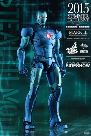 IRON MAN MARK 3 STEALTH DIE CAST -  HOT TOYS - ACTION FIGURE - 30CM