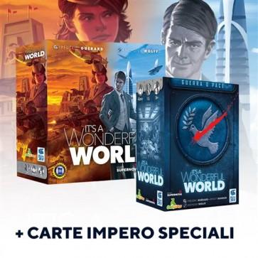 IT'S A WONDERFUL WORLD + IT'S A WONDERFUL WORLD: GUERRA O PACE - ESPANSIONE + SET CARTE IMPERO SPECIALE