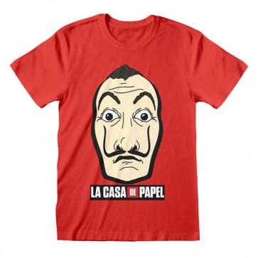 LA CASA DI CARTA - T-SHIRT - MASK AND LOGO L