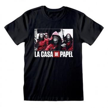 LA CASA DI CARTA - T-SHIRT - PHOTO AND LOGO XL